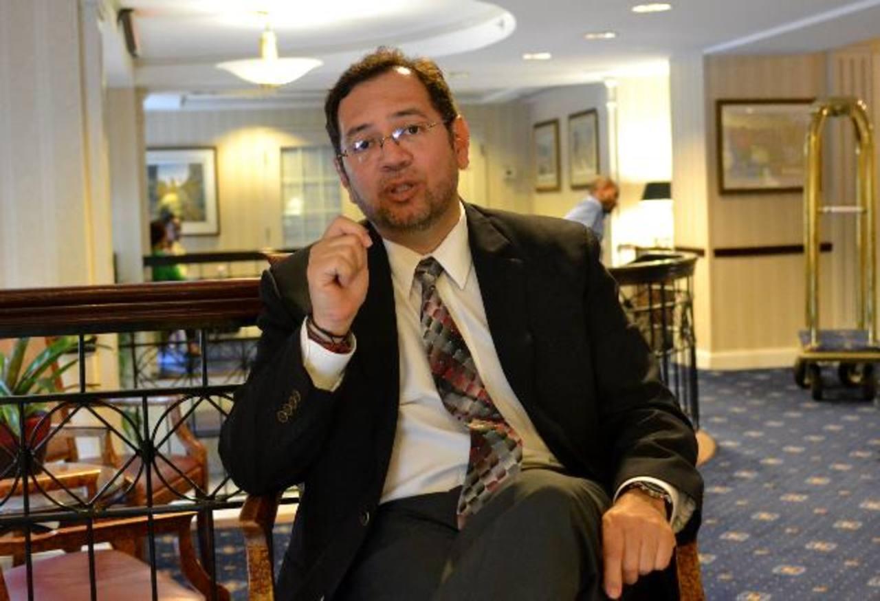 El analista en seguridad Miguel Cruz llegó a Washington para analizar los niveles de inseguridad en El Salvador, Guatemala y Honduras. Foto EDH