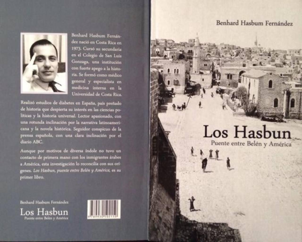 """Portada del libro: """"Los Hasbun: Puente entre Belén y América"""". Foto EDH/Cortesía"""