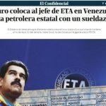 Captura de pantalla del sitio web del periódico El Confidencial que publicó la ayuda del chavismo al cabecilla etarra. foto edh / internet
