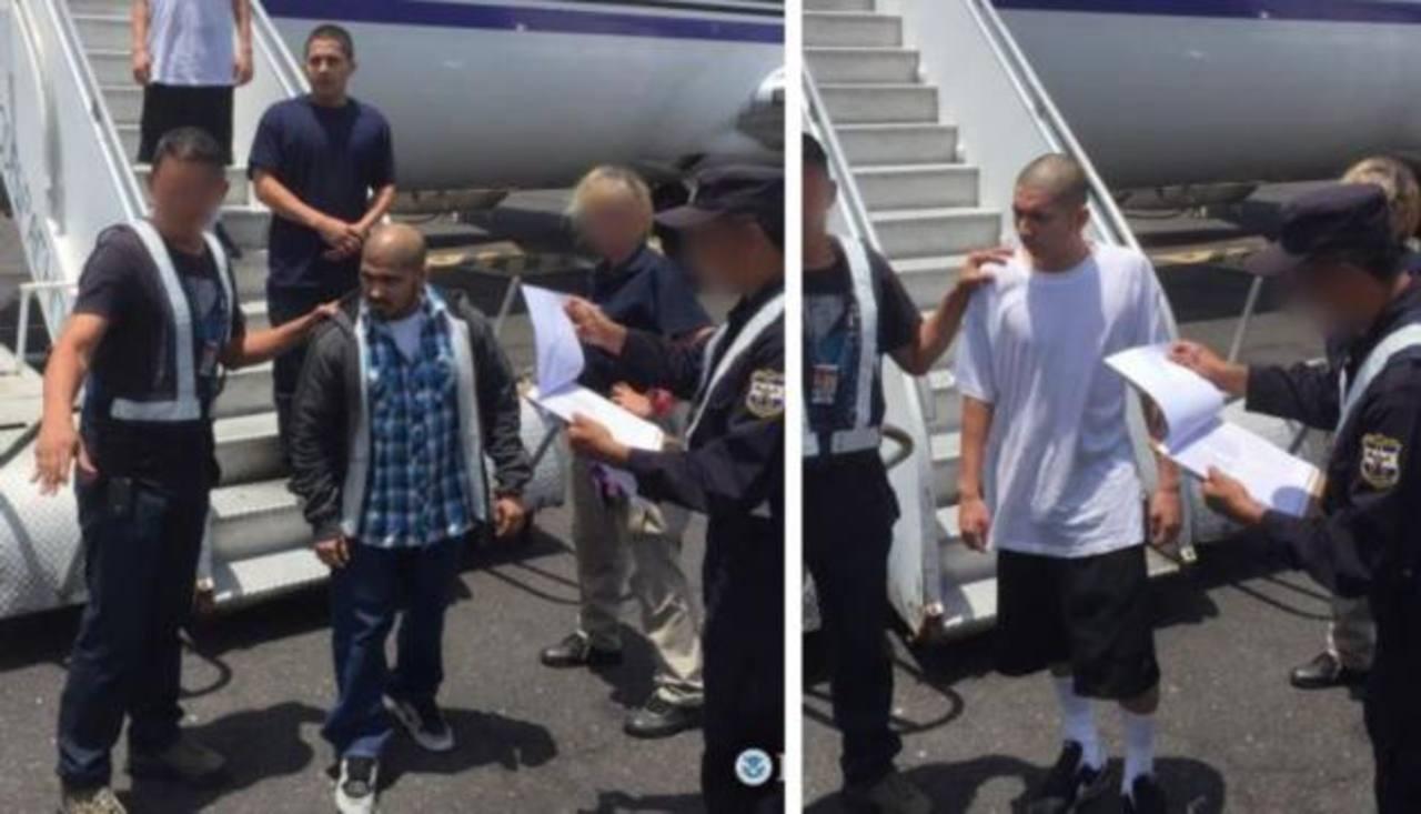EE.UU. deportó a dos pandilleros acusados de homicidio agravado