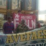 Los veteranos del FMLN Histórico se tomaron las instalaciones de Catedral Metropolitana durante la misa de las 8:00 a.m.