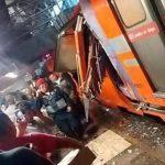 Varios heridos deja choque de trenes en México