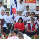 Presidente Salvador Sánchez Cerén en el acto del Día del Trabajador, el pasado 1 de mayo. Foto EDH/ Archivo