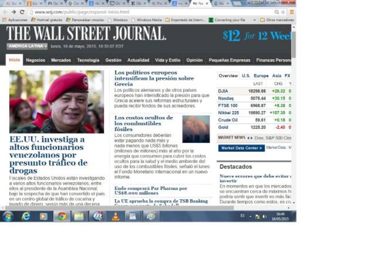 Según el periódico, las investigaciones iniciaron en respuesta al crecimiento explosivo del narcotráfico en Venezuela. foto edh / internet