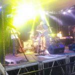 """La agrupación de jazz y funk Quantum durante su presentación en el """"Festival de Jazz y Arte""""."""