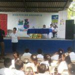 Educa Hoy entrega material de lectura a centro escolar en San Pedro Masahuat