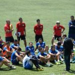 El presidente del equipo, José Vidal, charló ayer con los jugadores. Fotos EDH /Húber Rosales