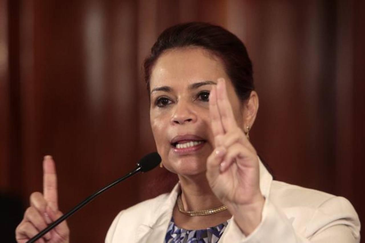 Roxana Baldetti renunció al cargo de vicepresidenta el pasado 8 de mayo, tras ser ligada a un caso de corrupción. EDH /archivo