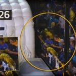 Imagen que muestra a los implicados al momento de la agresión a los jugadores del River Plate. Foto EDH