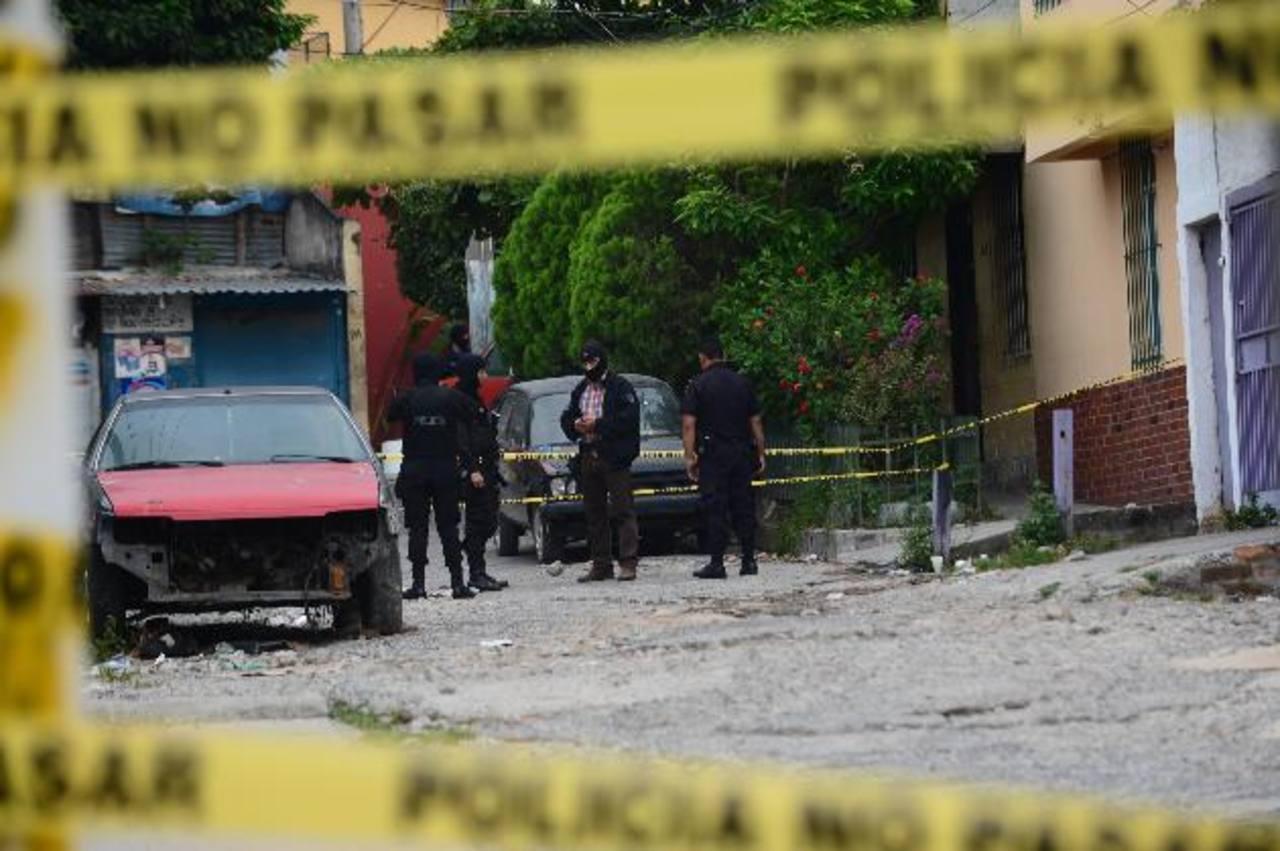 Sector de la comunidad La Granjita, San Salvador, donde ayer fue asesinado el agente antidrogas Wílmer Antonio Aguilar Santamaría. Fotos EDH / Miguel Villalta