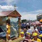 Las reliquias del beato Óscar Arnulfo Romero fueron llevadas al seminario San José de la Montaña tras finalizar la misa.