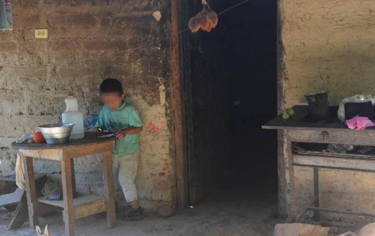 Casa donde pandilleros asesinaron a una mujer y a su hija de 4 años en el municipio de Panchimalco Foto EDH / Lissette lemus