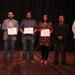 Los ganadores fueron galardonados en el Teatro de Santa Ana. Foto/ Cortesía