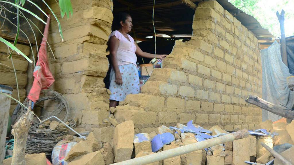 El año pasado varias familias resultaron afectadas por otro enjambre sísmico en Alegría, Usulután.