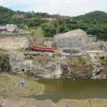 Construcción de la presa hidroeléctrica El Chaparral
