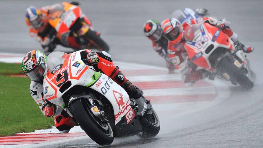 Italyøs Danilo Petrucci of Octo Ducati takes a corner during the Moto