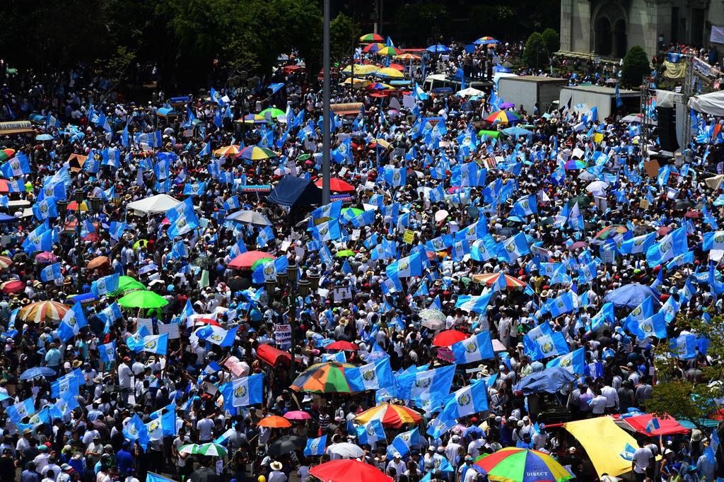 Protesta contra Otto Pérez Molina.