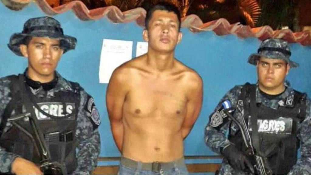 Pandillero salvadoreño en Honduras