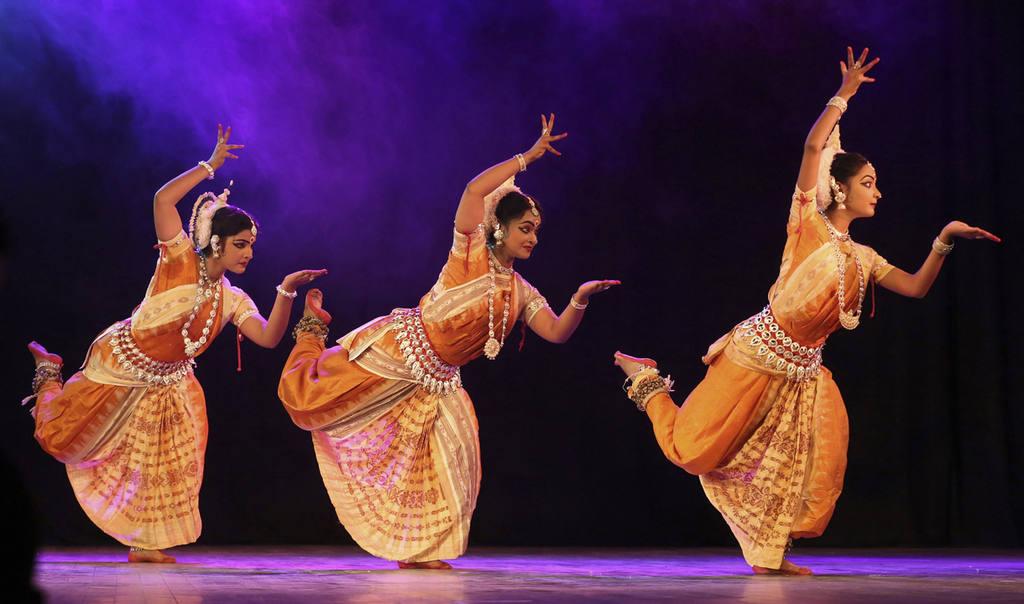Indian dancers perform during Naman