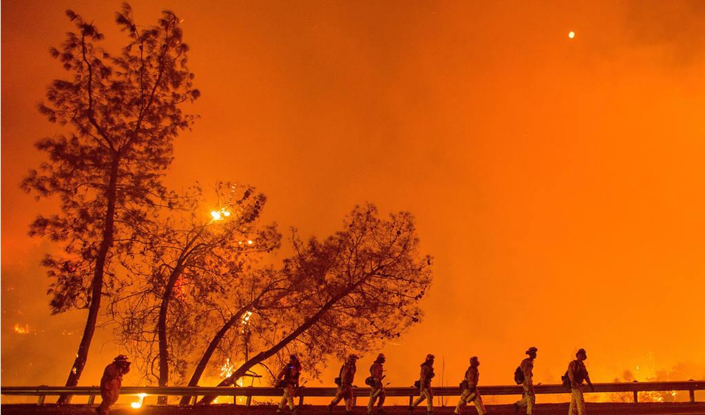 California wildfire in Lake County