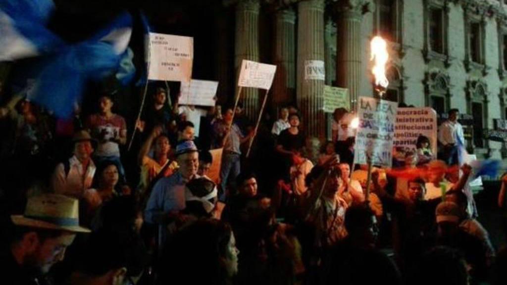 Protesta en Guatemala