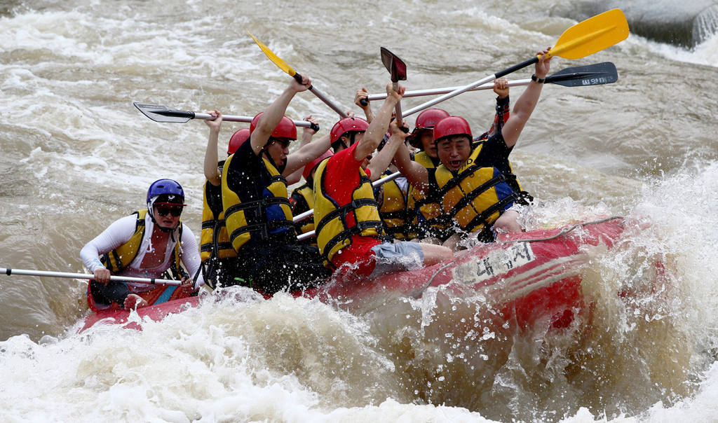 Rafting in the Naerincheon Valley in Inje