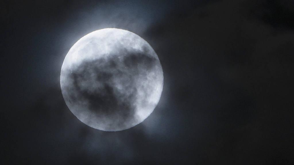 Blue moon over Skopje