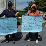 Protesta familiares de militares