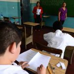 Examen alumnos de sexto, noveno y segundo año de Bachillerato