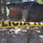 Escena de homicidio de estudiante en Mejicanos.