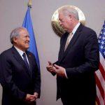 Temas de seguridad, gobernabilidad y prosperidad económica, enmarcados en el plan Alianza para la Prosperidad fueron discutidos por el mandatario salvadoreño y el consejero de Gobierno de EE.UU. Thomas Shannon.