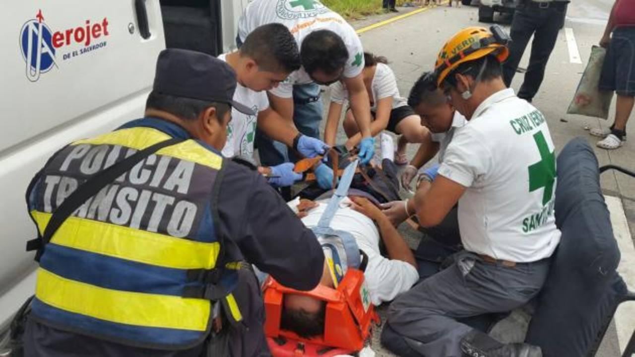 Un lesionado en accidente vial