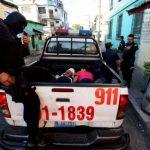 Lugar donde fue atacado un policía en centro de San Salvador. /