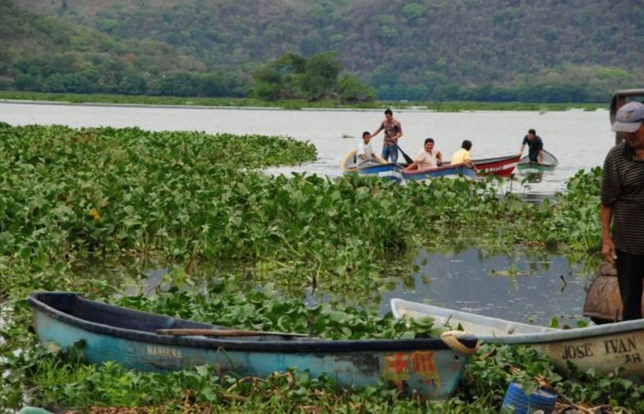 En la estación seca, al bajar el nivel del agua, son afectadas numerosas familias y el ecosistema local. Foto EDH / insy mendoza