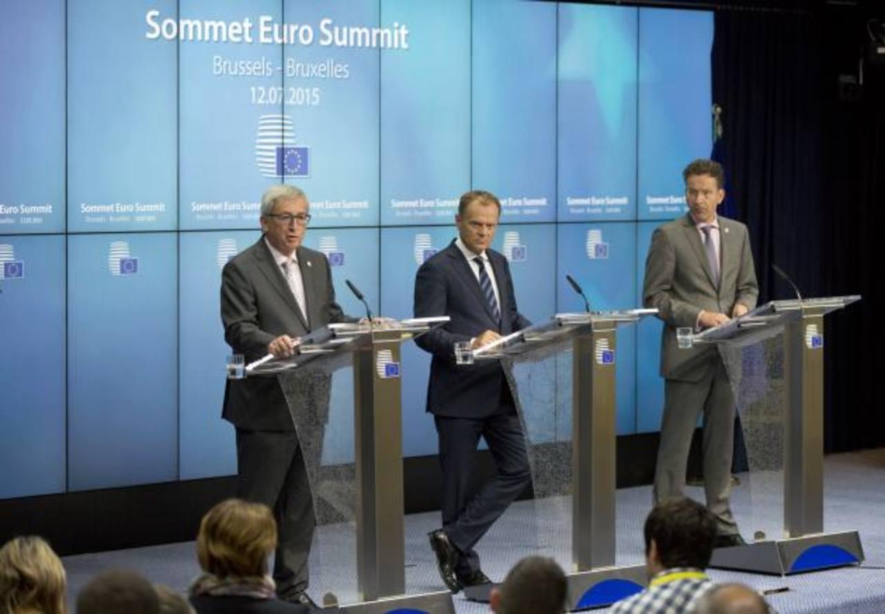 Los máximos representantes de la Eurozona se dieron cita en Bruselas para desarrollar una maratónica jornada de evaluación de la crisis en Grecia. foto edh / AP
