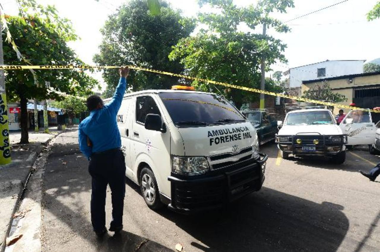 Escena de homicidio en Monte María, Soyapango. Foto EDH
