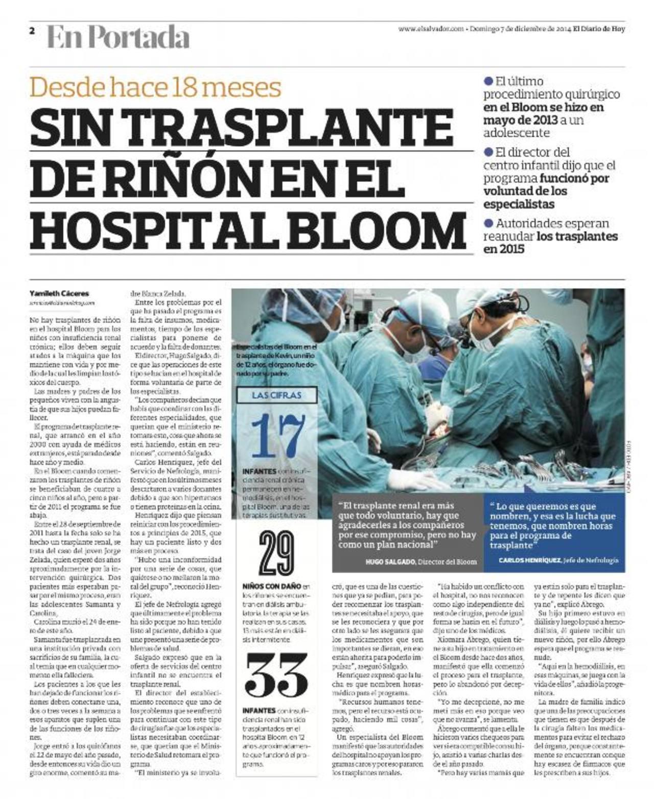 El trasplante de riñón, la esperanza de los pacientes del hospital ...