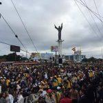 Así luce la Plaza Cristo Redentor en vísperas de la misa oficiada por el Papa. /