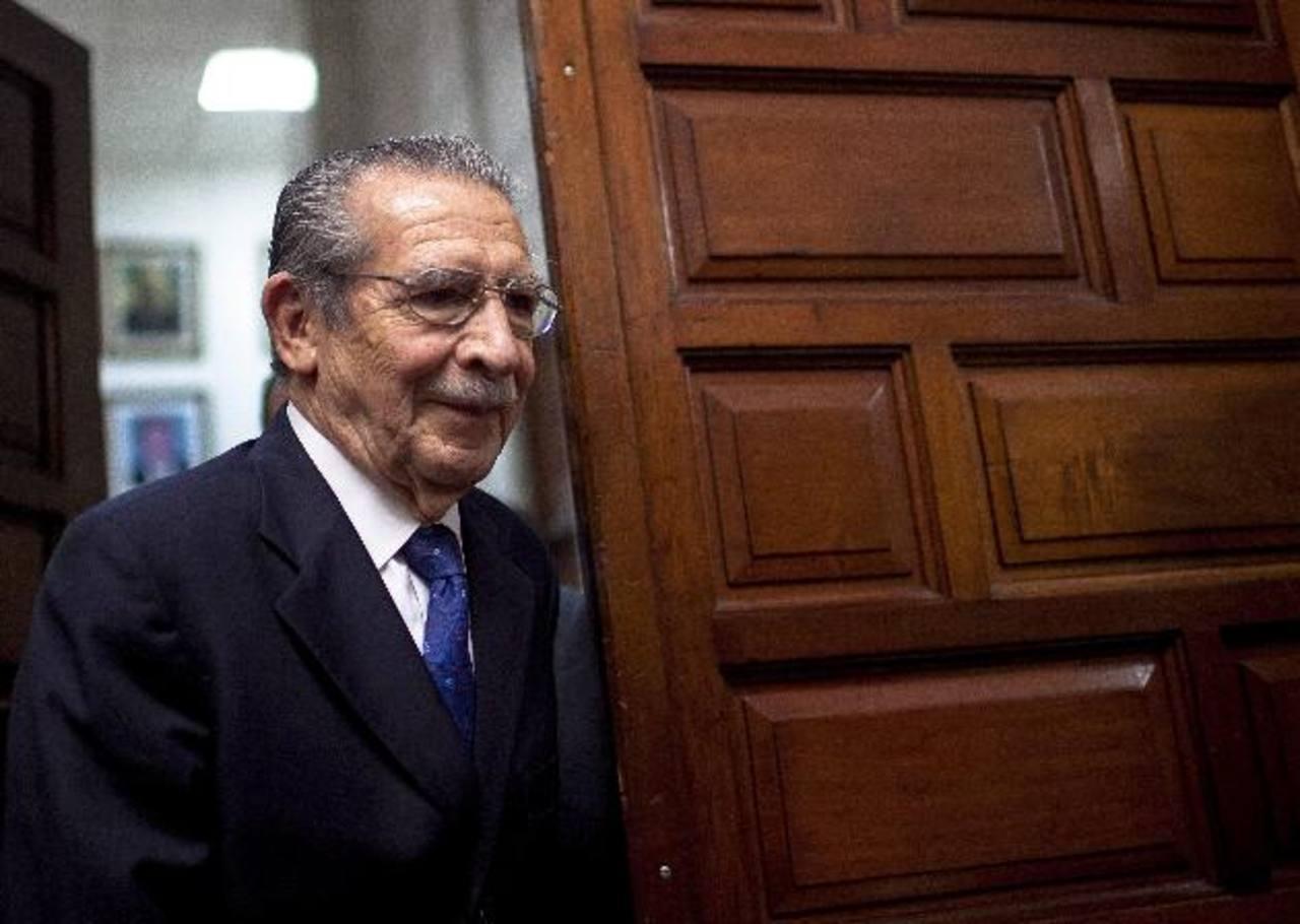 José Efraín Ríos Montt en un tribunal en 2013.