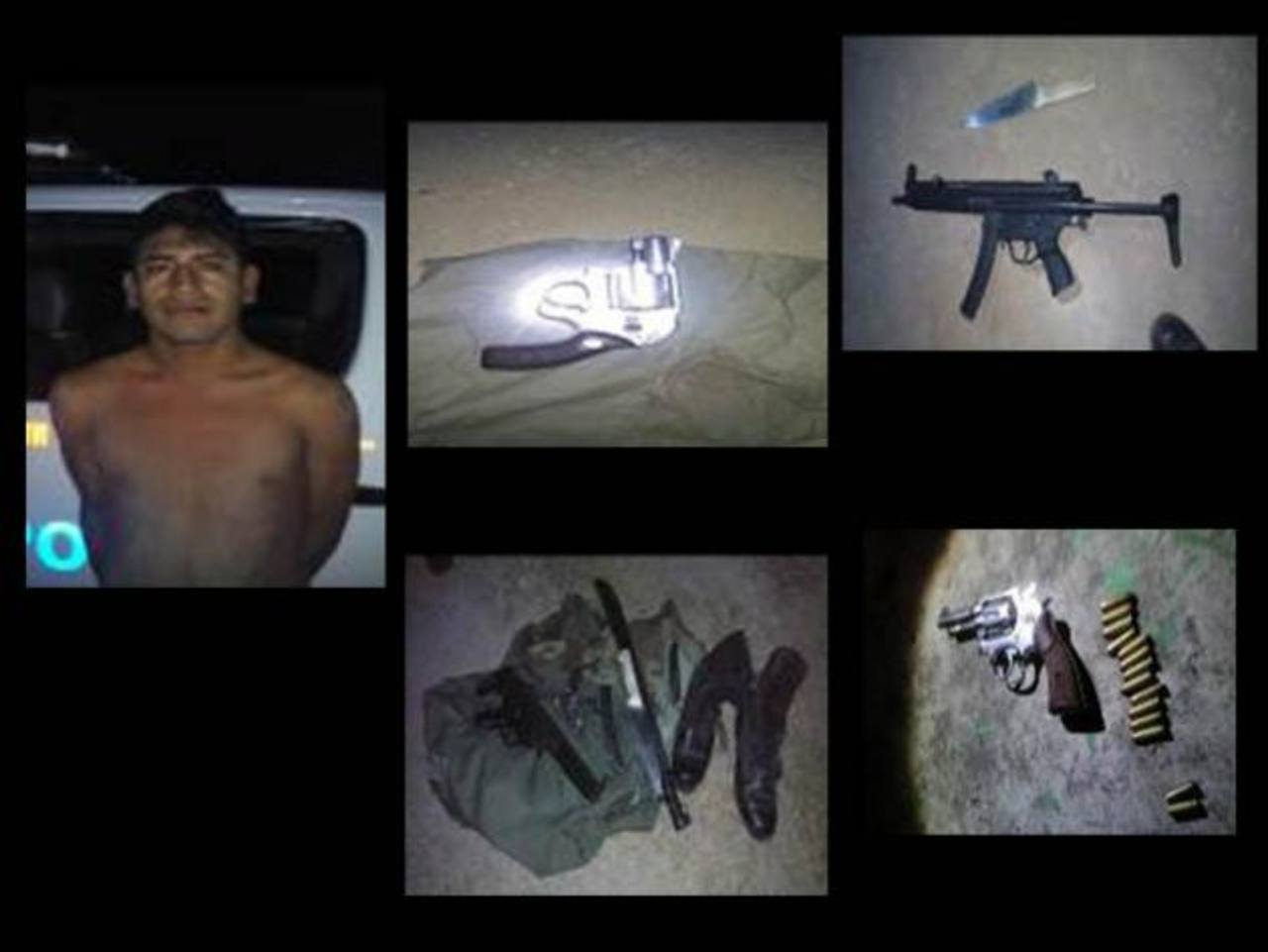 Fuerza Armada captura 5 pandilleros con armas, drogas y mercadería
