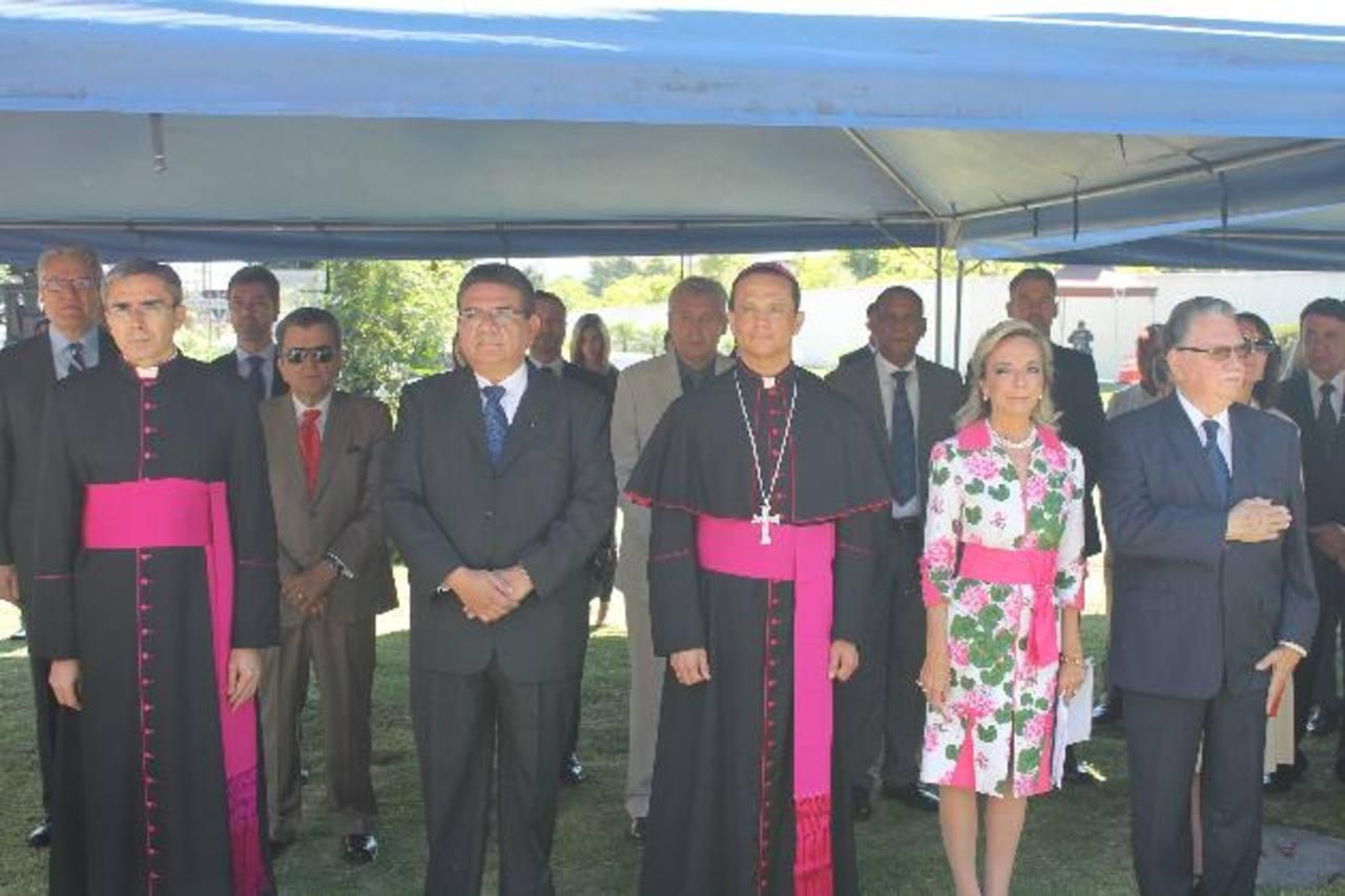 Autoridades y diplomáticos participaron del festejo a San Juan Bautista. foto edh / CORTESÍA