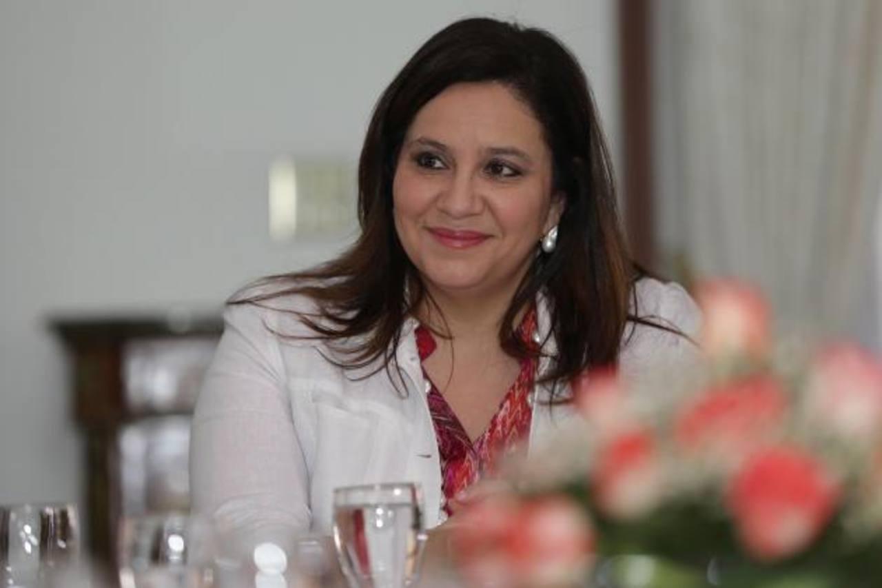 La Primera Dama hondureña, Ana García de Hernández. foto edh / www.presidencia.gob.hn/
