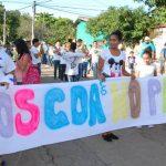 La alcaldía de Conchagua y el programa de USAID desarrollaron una marcha por la Paz para pedirle a la población que no se dejen vencer por el miedo.