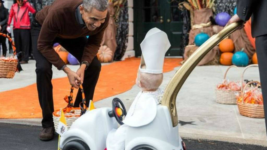 Obama, Halloween, Casa Blanca,
