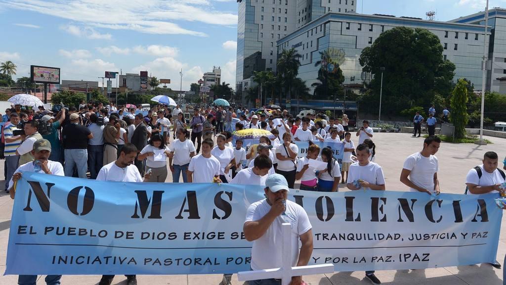Marcha de familiares de pandilleros
