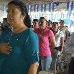 Salvadoreños marchan por la paz y la soberanía del sector fronterizo