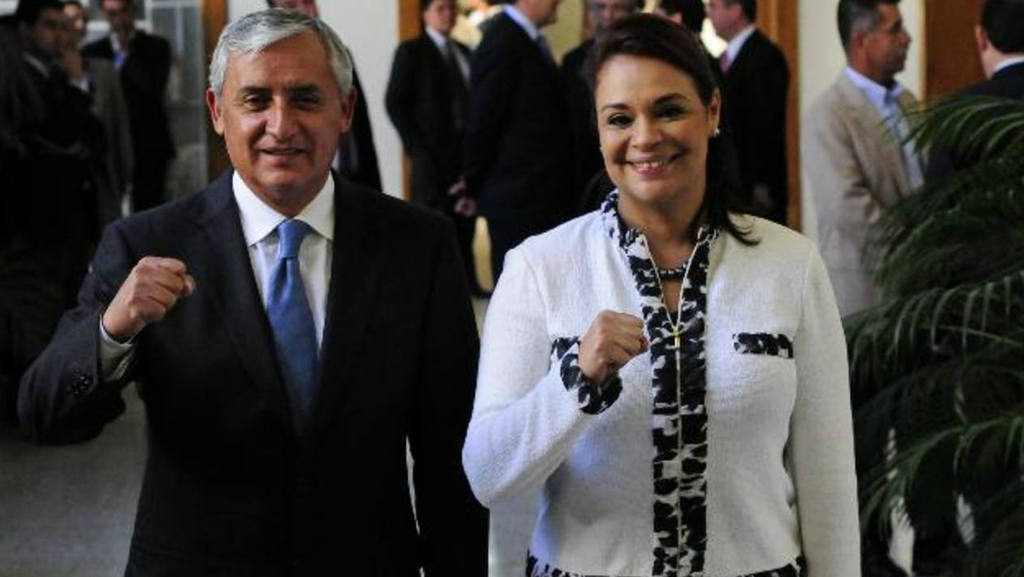 Expresidente Otto Pérez Molina y exvicepresidenta Roxana Baldetti de Guatemala