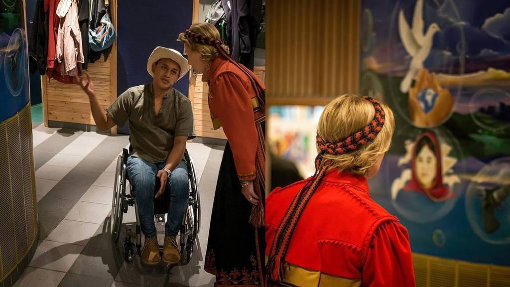 Melvin Gómez, pintor salvadoreño becado en Noruega