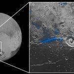 Agua congelada en Plutón