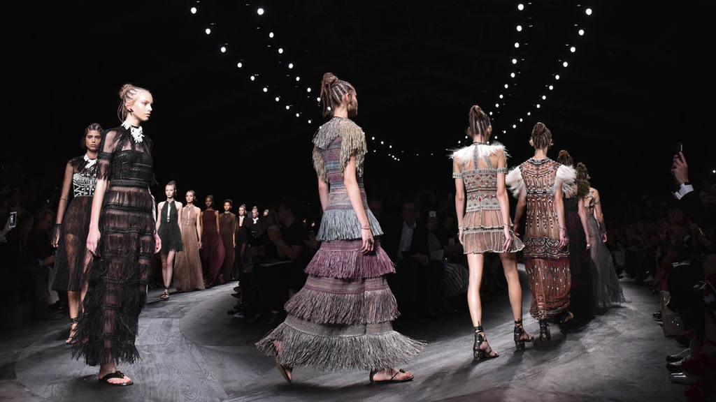 Models wear creations for Valentino's Spring-Summer 2016 ready-to-wea